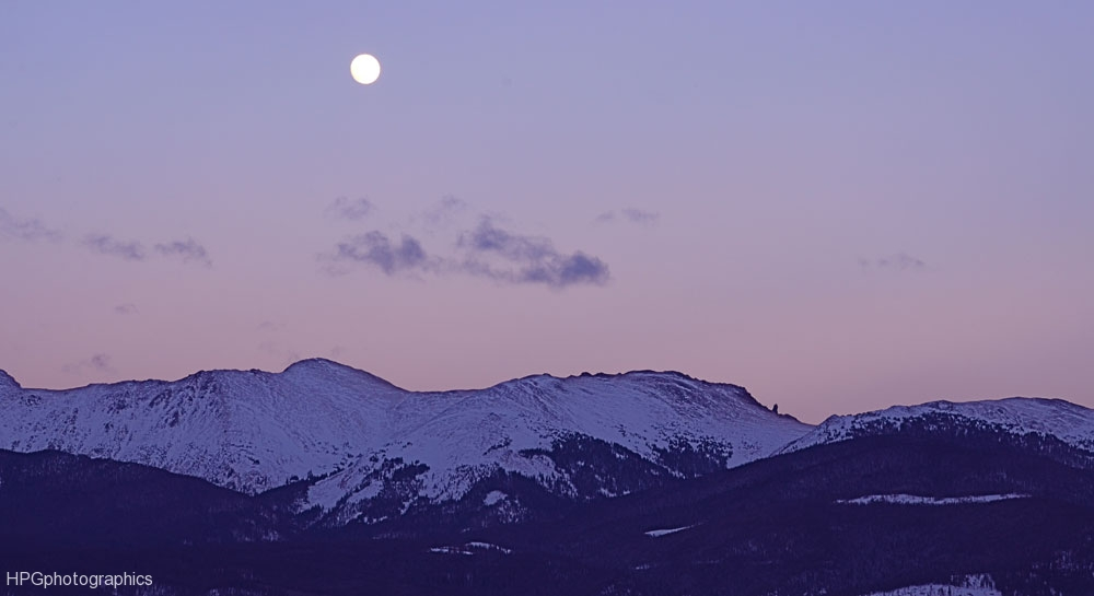 Moon over the Divide